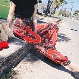7296 Thai holiday national style bohemian beach pants