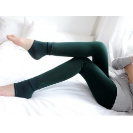 340 high waist stretch large size slim woolen leggings