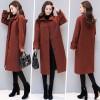9055 Korean fashion thick wool long jacket