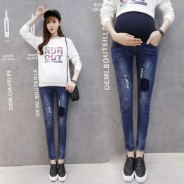 130 pregnant women belly pencil jeans