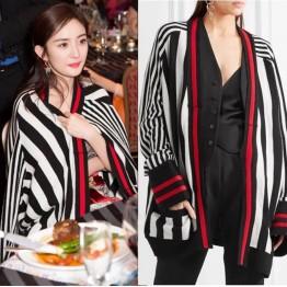 3020 vertical stripes sweater cardigan