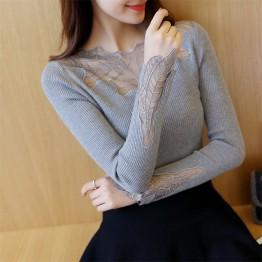 8530 Korean Slim sexy lace bottoming shirt