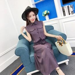 8025 Korean casual loose long dress