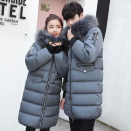 8972 winter big fur collar lovers down long coat