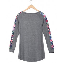 2079 hot sale printing splicing long sleeve T-shirt