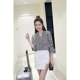8262 special stripes chiffon shirt