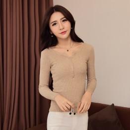 8207 Korean fashion slim fashion temperament primer shirt
