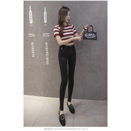 8638 high waist slim trousers