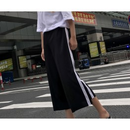 9270 wide leg stripes casual pants