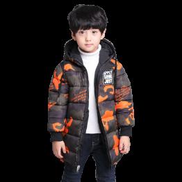 7300 Winter children's camouflage warm jacket