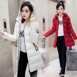 9954 winter slim look hooded down jacket