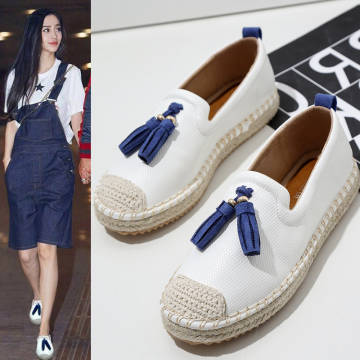 A2866-2 flat-bottomed tassel fisherman shoes