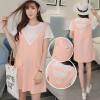 8525 pink pregnant women loose cotton large size dress