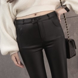 1638 high waist imitation leather leggings