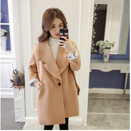 1761 temperament big lapel woolen coat