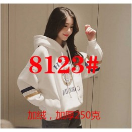 8123 loose Harajuku hooded sweatshirt