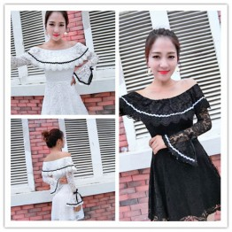 7515 autumn and winter lace dress