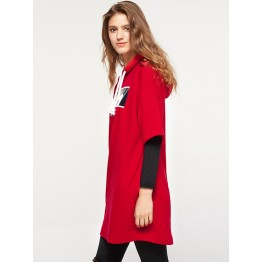 2018 spring and summer knit pocket hooded dress