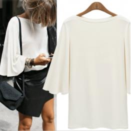 7101 autumn bat sleeve backing shirt