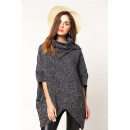 9862 hem triangle thick long woolen coat
