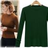 7103 long sleeve slim knit crew neck sweater