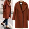 7117 large size women's wool long coat