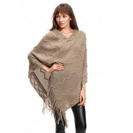 9806A unique flowers loose tassel woolen sweater