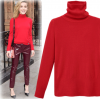 7106 thickening hemp high-collar solid color sweater