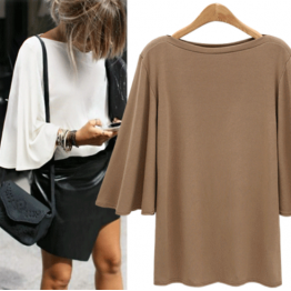 7101 autumn bat sleeve backing shirt