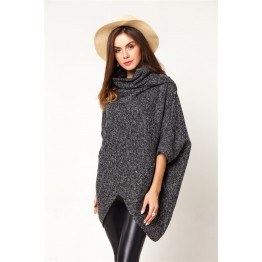 9862 hem triangle thick long woolen coat