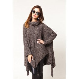 9861 oversized thick cloak woolen jacket