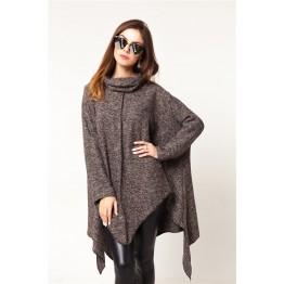 9861 oversized thick cloak woolen jacket