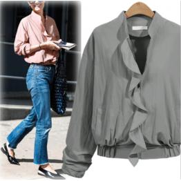 7099 short zip lotus leaf jacket