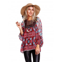 9837 autumn new loose holiday wind shirt