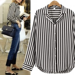 7093 Euramerican stripes long sleeve shirt