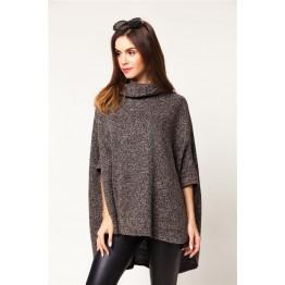 9860 short irregular thick woolen cloak coat
