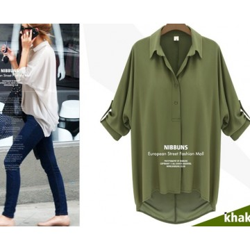 9816 Chiffon bat sleeve shirt