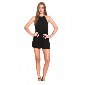 9822 black halter backless jumpsuit