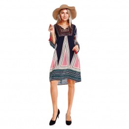 9840 European and American style autumn new retro dress