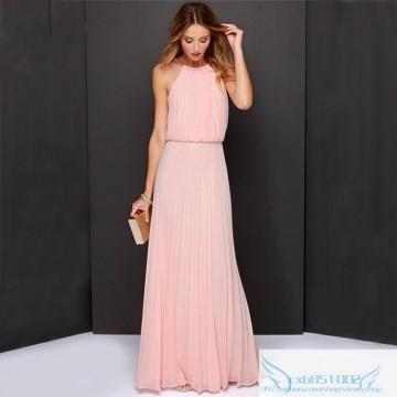 9821 sleeveless reins pleated fashion sexy dress