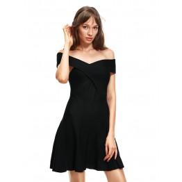 9804 cross chest off shoulder shoulder strap dress
