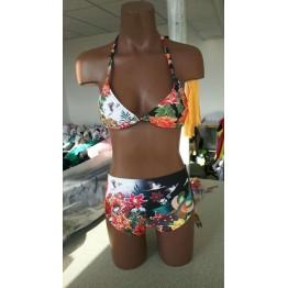 G0019 bikini Chinese style printed swimsuit