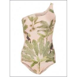 G0006 one shoulder one piece printing swimsuit bikini