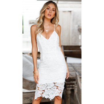 1011 2018 New Strap Lace Dress