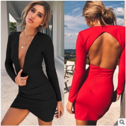 8162 Sexy Pack Hip Hollow Dress