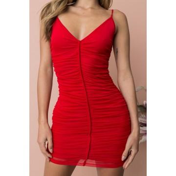 1012-1 2018 New Sling Mesh Dress